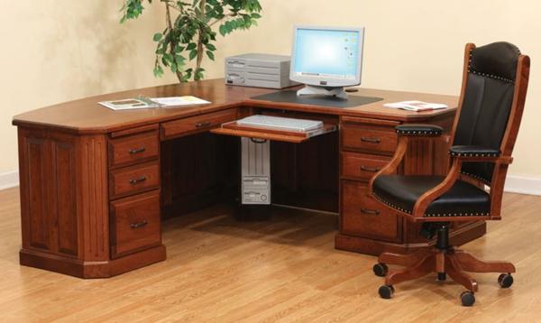 effektvolle-Schreibtische-Antik-Holz-Design