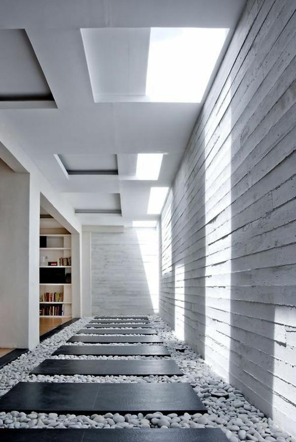 Farbe Grau Holz Moderne Wohnung