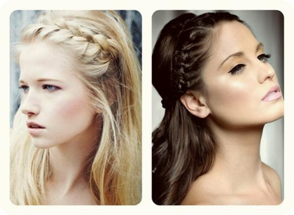 einfache-frisuren-blonde-und-braune-haare