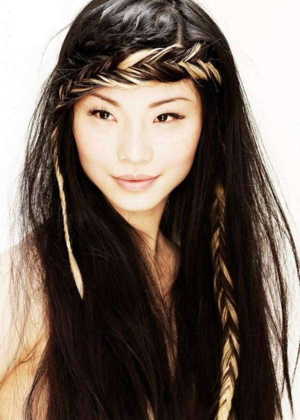 einfache-frisuren-für-lange-haare-dunkle-schöne-haare