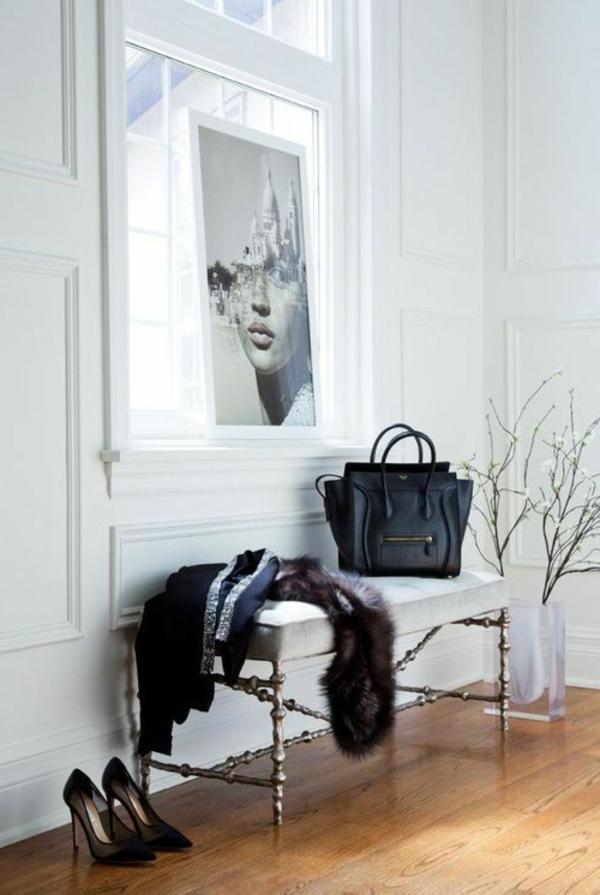 elegante--Sitzbank-Flur-originell-gestalten
