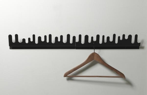 eleganter-schwarzer-Wandhaken-mit-schönem-Design