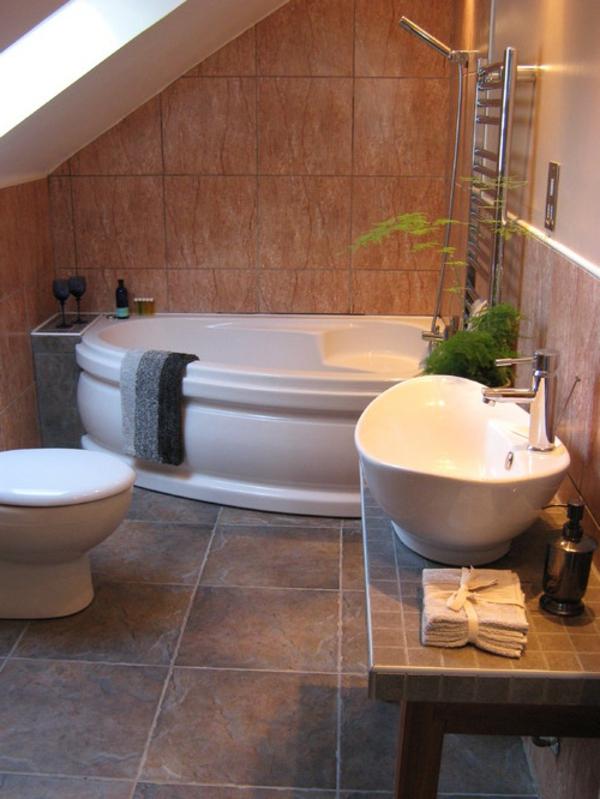 elektrische-eckbadewanne - moderne badezimmer gestaltung