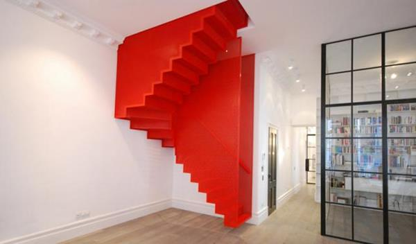 erstaunliche-rote-Innentreppen-mit-ultra-modernem-Design