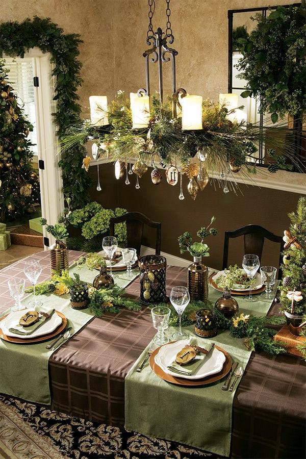 wohnzimmer rot dekorieren:fantastische-Weihnachtsdeko-für-Tisch-Weihnachtsdekoration-selber