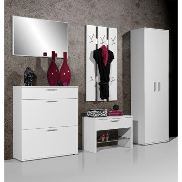 fantastische-Wohnideen-für-das-Interior-Design-Flurmöbel-in-Weiß