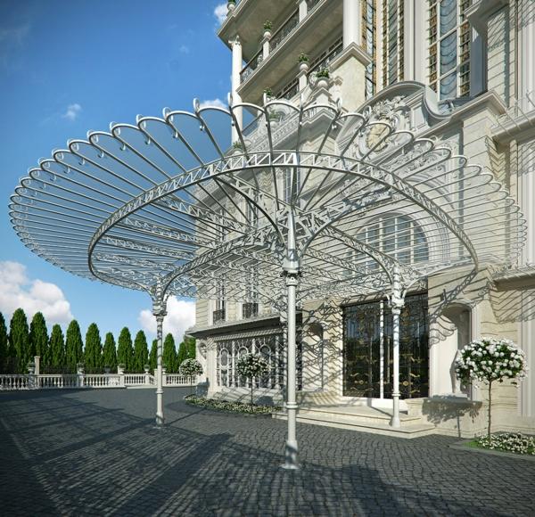 faszinierende-Architektur-Luxus-Design-Eingang