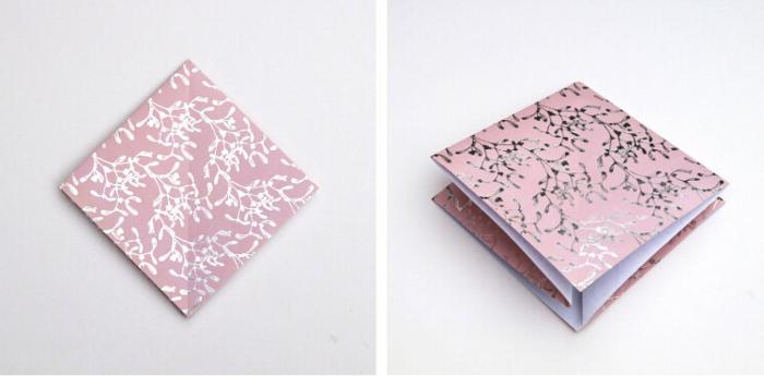 fenster weihnachtsdeko basteln papier weihnachtsbaum origami selber machen anleitung