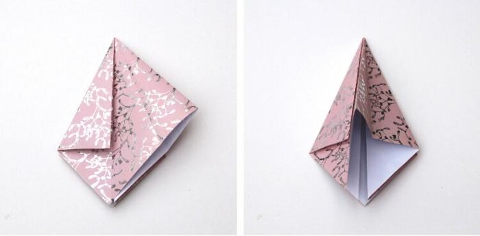fensterdeko zu weihnachten origami weihnachtsbaum selber machen schritte