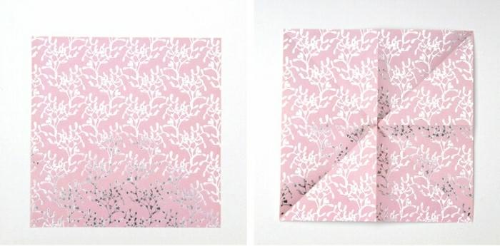 fensterdeko zu weihnachten weihnachtsdeko bastel papier tannenbaum origami papier anleitung