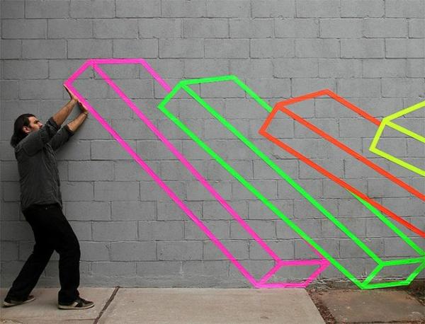 Fluoreszierende Farbe Coole Straßenart Ideen