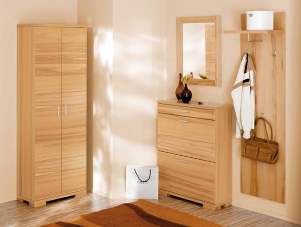 frische-Interior-Design-Ideen-Flurmöbel-aus-Holz