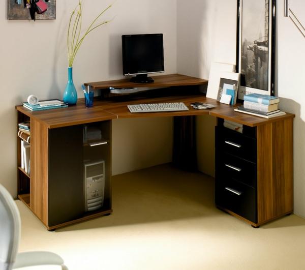 funktioneller-Schreibtisch-Massivholz-Interior-Design-Idee- Computertisch