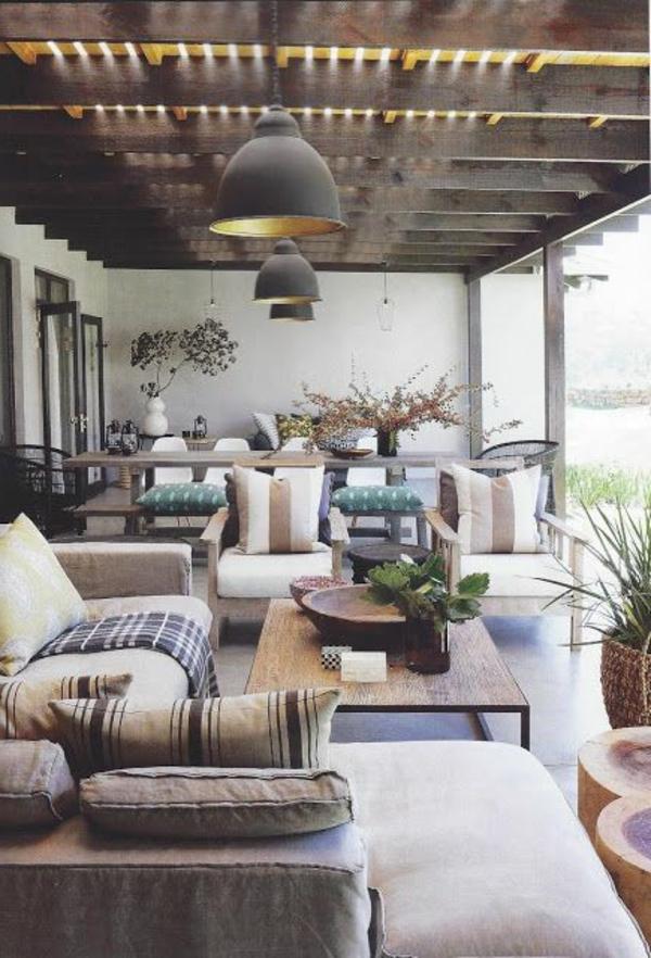 gemütliche-und-wunderschöne-Einrichtung-moderne Terrassengestaltung