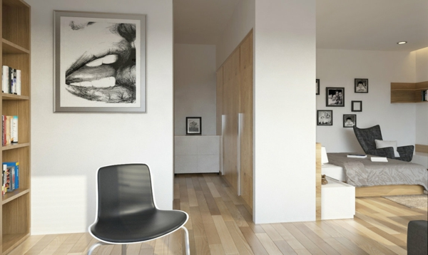 gemütliche-warme-Atmosphäre-in-der-Wohnung-mit-Parkett-