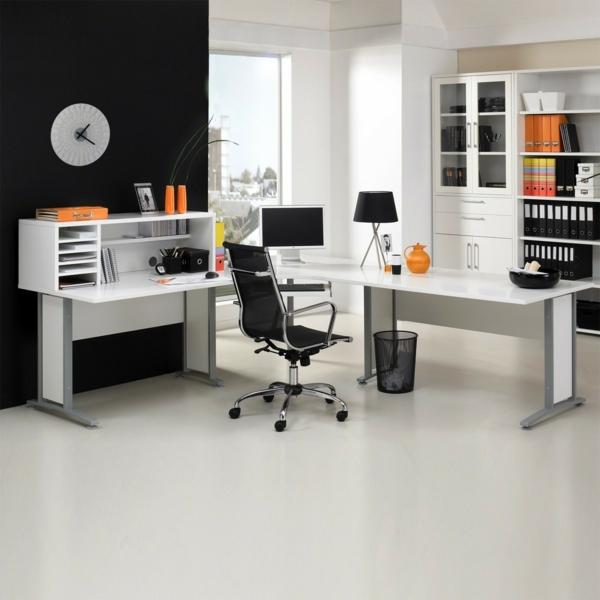 großer-Schreibtisch-Holz-moderne-Schreibtische-Weiss - Computertisch