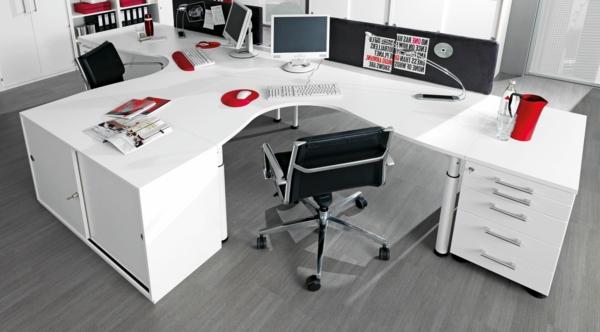 großer-weißer-Schreibtisch-Schreibtische-Design