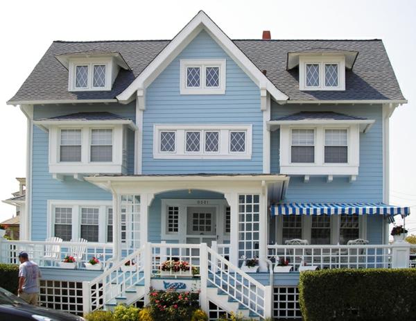 Blaue Häuser hausfassade farbe 65 ganz gute vorschläge archzine