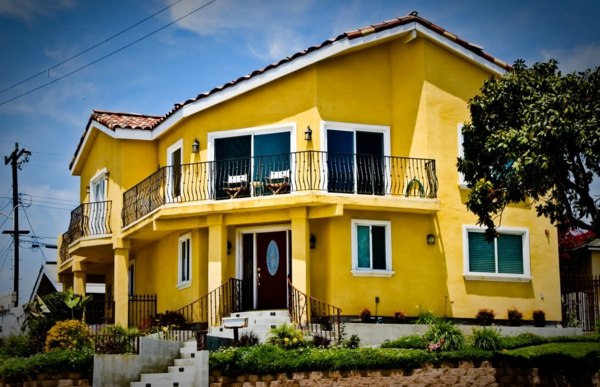 Fassade Gelb hausfassade farbe 65 ganz gute vorschläge archzine