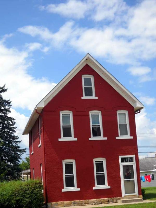 Hausfassade Farbe Cooles Rotes Haus