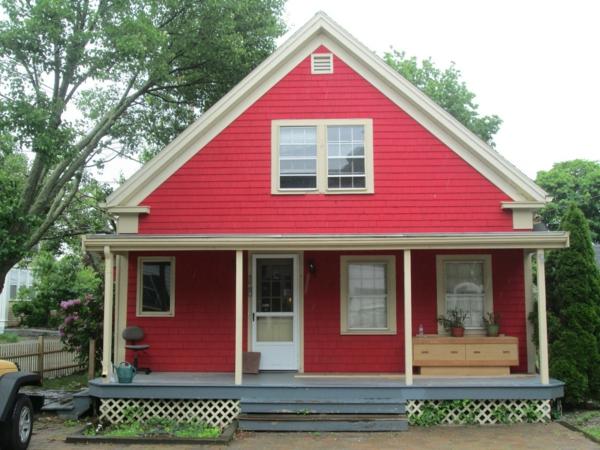 Hausfassade Farbe: 65 Ganz Gute Vorschläge! - Archzine.net Farbe Einfamilienhaus Trkis