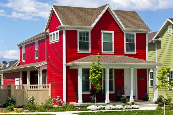 Perfect Hausfassade Farbe Ganz Gute Vorschlge With Hausfarben Trend