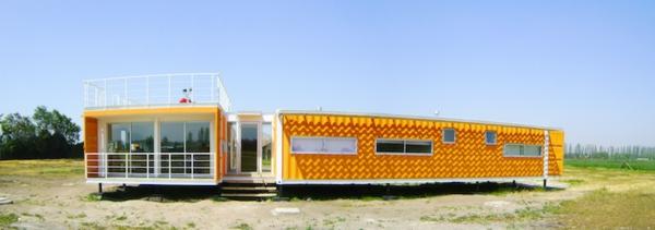 hausfassade-farbe-orange-gestaltung