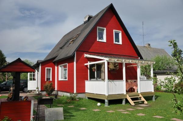 Hausfassade Farbe Rotes Haus