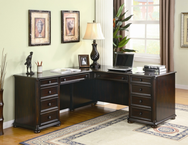 home-decor-interior-home-office-l-shaped-desk-ideas-with-wenge-l-shape-modern-corner-desk-with-ten-drawers-for-home-office-amuzing-computer-desk-ideas-computer-desk-ideas
