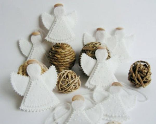 weiße weihnachtsdeko - schöne diy engel
