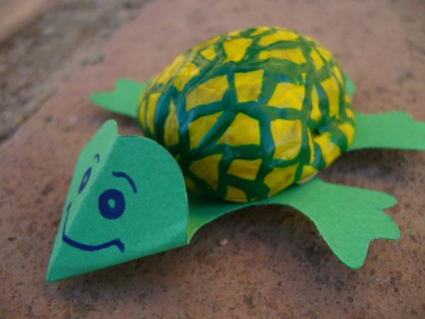 bastelideen für kindergarten - schildkröte  sehr interessantes modell