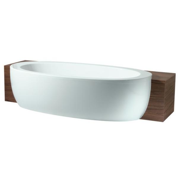 inspirierende-badewanne-mit-schürze - weißer hintergrund