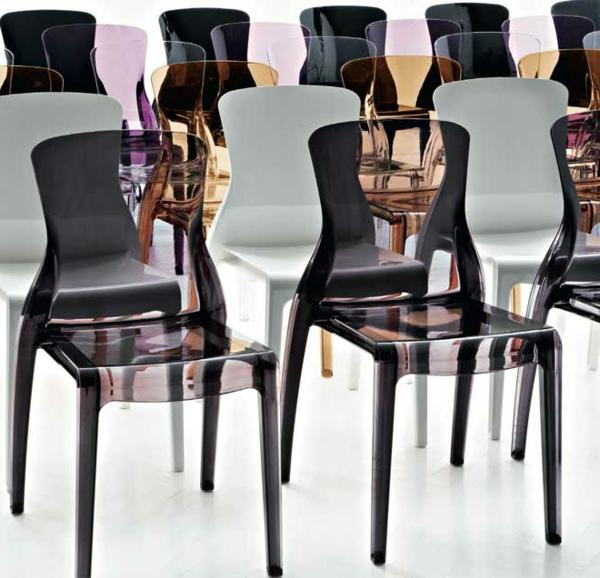 küchenstühle-super-schickes-und-luxuriöses-design in weißer und schwarzer farbe