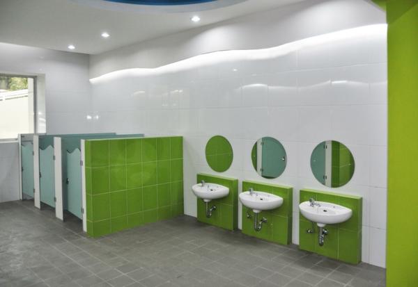 badezimmer grün weiß: kleines badezimmer mit nizza klein bad ... - Kinder Bad Gestalten Ideen