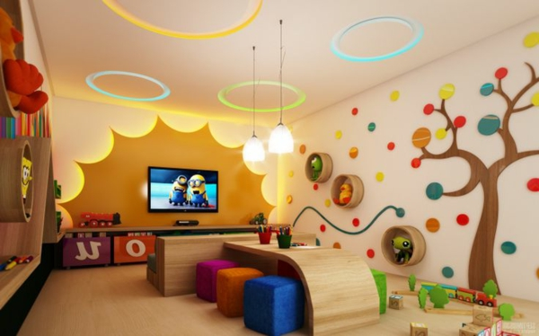 100 moderne ideen f r kindergarten interieur. Black Bedroom Furniture Sets. Home Design Ideas