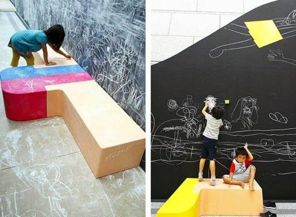 100 moderne ideen f r kindergarten interieur for Sofa zeichnen kinder