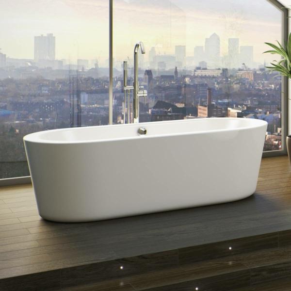 Badewanne freistehend an wand  135 kleine Badewannen - freistehend und eingebaut! - Archzine.net
