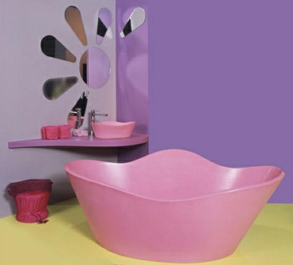 kleine-badewannen-freistehend-rosige-farbe-shabby-chic