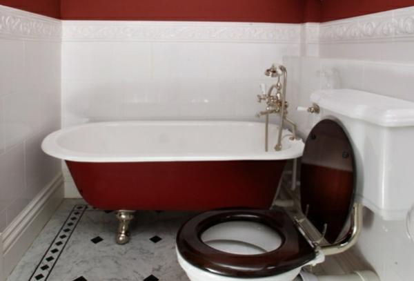 Kleine Badewannen Freistehend freistehende badewanne rot die schönsten einrichtungsideen