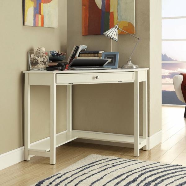 kleiner-PC-Schreibtisch-Weiß-aus-Holz