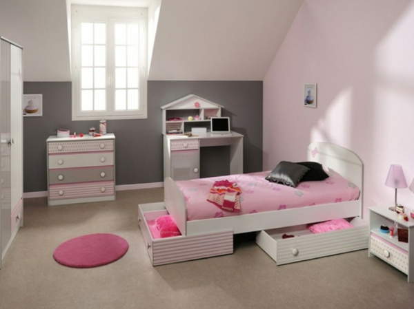 kleines schlafzimmer einrichten 80 bilder. Black Bedroom Furniture Sets. Home Design Ideas