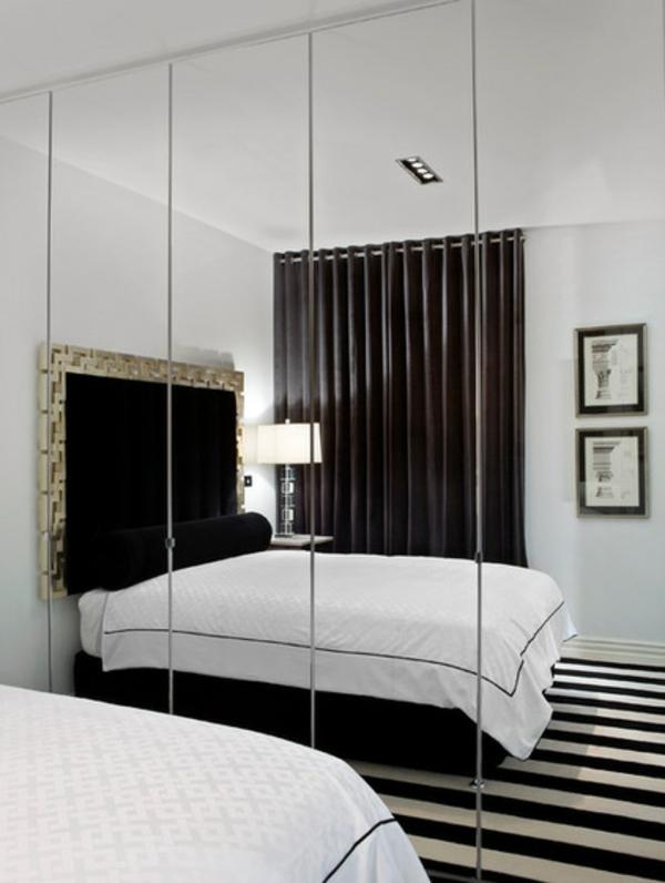 kleines-schlafzimmer-einrichten-großer-spiegel