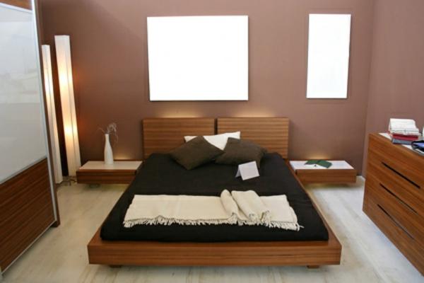 schlafzimmer - mit interessanter wandgestaltung