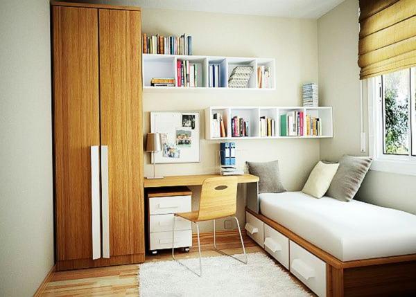 Kleines schlafzimmer einrichten 80 bilder for Schreibtisch im schlafzimmer