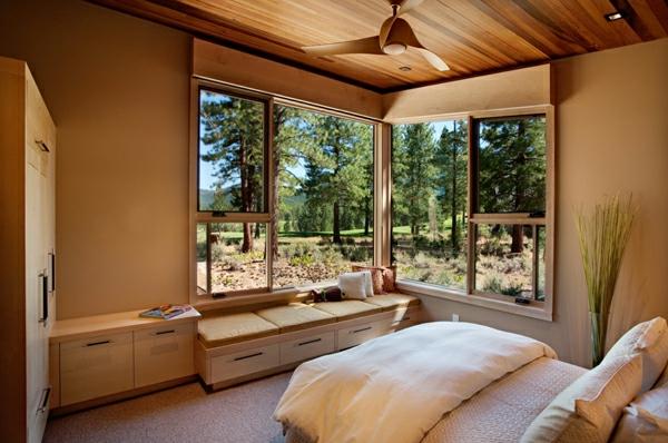 kleines-schlafzimmer-einrichten-orange-und-beige-nuancen