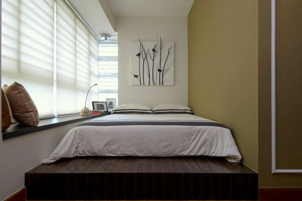 kleines-schlafzimmer-einrichten-schickes-design-vom-bett