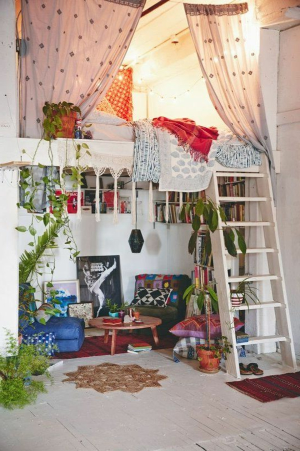 kleines-schlafzimmer-einrichten-weiße-coole-gestaltung-hochbett