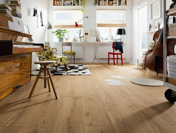 moderner laminatboden - 130 schöne beispiele! - archzine.net - Wohnideen Laminat Farbe