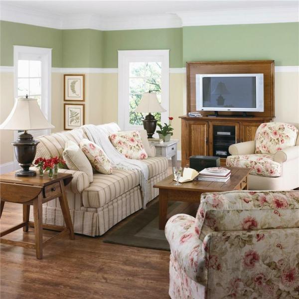 wohnzimmer einrichten - schönes sofa und dekokissen