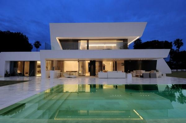 luxuriöses-Design-moderne-Architektur-Überdachung--